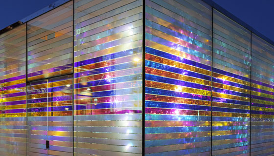 Dichroic Glass Effect In Architecture